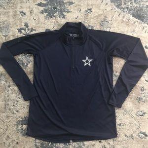 Dallas cowboys 1/4 zip pullover medium